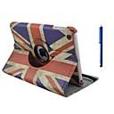 voordelige iPad-hoesjes/covers-hoesje Voor Apple met standaard / 360° rotatie / Origami Volledig hoesje Vlag PU-nahka voor iPad Air
