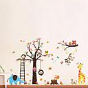 hesapli Dekorasyon Etiketleri-Hayvanlar Karton Duvar Etiketler Uçak Duvar Çıkartmaları Dekoratif Duvar Çıkartmaları, Vinil Ev dekorasyonu Duvar Çıkartması Duvar