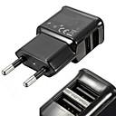 abordables Chargeurs de Téléphone-Chargeur Secteur / Chargeur Portable Chargeur USB Prise UE Multiport 2 Ports USB 2 A pour