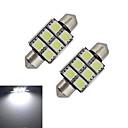 hesapli Diğer LED Işıkları-1.5W 100-150 lm Festoon Dekoratif Işıklar 6 led SMD 5050 Serin Beyaz DC 12V