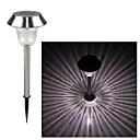 hesapli Dış Ortam Lambaları-LED Güneş Işıkları 1 LED'ler Serin Beyaz Şarj Edilebilir / Dekorotif Pil