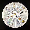 Buy 3Mix Shape AB Rhinestone Wheel Nail Art Decoration