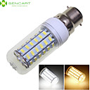 hesapli LED Küre Ampuller-SENCART 1600-1900 lm B22 LED Mısır Işıklar 56 LED Boncuklar SMD 5730 Dekorotif Sıcak Beyaz / Serin Beyaz 220-240 V / 110-130 V / RoHs
