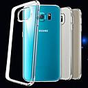 baratos Capinhas paara Galaxy Série Note-Capinha Para Samsung Galaxy Samsung Galaxy Capinhas Ultra-Fina Transparente Capa traseira Côr Sólida TPU para S6
