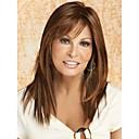 hesapli Makyaj ve Tırnak Bakımı-Sentetik Peruklar Düz Bantlı Sentetik Saç Patlama ile Peruk Kadın's Uzun Bonesiz
