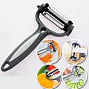 저렴한 장식 스티커-4 1 스테인레스 스틸 야채 껍질 벗기는 과일 커터 슬라이서 사이클론 칼 (임의의 색)