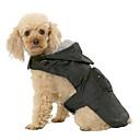 hesapli Fırın Araçları ve Gereçleri-Köpek Yağmur Paltoları Köpek Giyimi Solid Siyah Kırmzı Mavi Naylon Kostüm Evcil hayvanlar için Erkek Kadın's Su Geçirmez