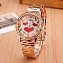 preiswerte Damenuhren-Damen Armbanduhr Quartz Schlussverkauf Legierung Band Analog Heart Shape Modisch Silber / Gold - Rotgold