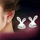 preiswerte Armband Herren-Damen Ohrstecker Sterling Silber Silber Ohrringe damas Schmuck Weiß Für Party Alltag Normal