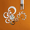 cheap Dog Clothing & Accessories-Fashion Removable Clock Mirror Style DIY Art Wall Stickers for Home Decor (Silver)