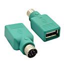 ieftine USB-uri-ps / 2 de sex masculin la feminin USB 2.0 Convertor adaptor pentru șoarece&claviatură
