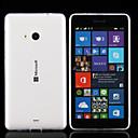 hesapli Motorsiklet ve ATV Parçaları-Pouzdro Uyumluluk Nokia / Nokia Lumia 830 Nokia Kılıf Ultra İnce / Şeffaf Arka Kapak Solid Yumuşak TPU için Nokia Lumia 535