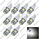 abordables Intermitentes para Coche-SO.K 10pcs T10 Coche Bombillas 10w SMD 5050 10 lm 5 Luz de Intermitente For Universal