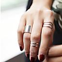 baratos Anéis-Mulheres Conjunto de Jóias Anéis para Falanges - Liga senhoras, Personalizada, Fashion Jóias Prata / Dourado Para Festa Diário Casual Esportes Ajustável