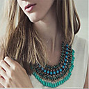 Buy Women's Statement Necklaces Acrylic Silver Plated Alloy Drop Fashion Yellow Rose Green Blue Pink Jewelry Wedding Party Daily Casual 1pc
