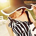 hesapli Bilezikler-Kadın Günlük Yaz Keten/Hasır Kadın Hasır Şapka