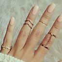 povoljno Prstenje-Žene Prestenje knuckle ring Legura Leaf Shape Princeza Klasik Moda Modno prstenje Jewelry Zlato / Pink Za Party Zabava / večer Dnevno Univerzalna veličina