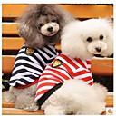 tanie Ubranka i akcesoria dla psów-Psy T-shirt Ubrania dla psów Ciemnoniebieski Czerwony Bawełna Kostium Na Lato