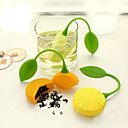 abordables Accessoires à Thé-orange citron forme infuseur à thé filtre en silicone filtre sac théière herbe