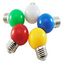 ieftine Becuri LED Glob-1 buc 1 W Bulb LED Glob 80 lm E26 / E27 G45 8 LED-uri de margele SMD 2835 Petrecere Decorativ Crăciun decor de nunta Alb Roșu Albastru 220-240 V / 1 bc / RoHs