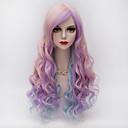 ieftine Machiaj & Îngrijire Unghii-Peruci Sintetice / Peruci de Costum Ondulat Stil Fără calotă Perucă Ombre Roz Păr Sintetic Pentru femei Ombre Perucă Halloween Wig