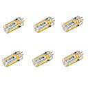 cheap LED String Lights-YWXLIGHT® 6pcs 650 lm G4 LED Corn Lights T 72 leds SMD 3014 Warm White Cold White DC 24V AC 24V AC 12V DC 12V