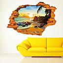 preiswerte Ausgefallene LED-Lichter-Stillleben Romantik Spiegel Mode Botanisch Cartoon Design Feiertage Transport 3D Wand-Sticker 3D Wand Sticker Dekorative Wand Sticker,
