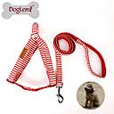 Hund Seler Hundebånd Hundesele med rem Justerbare / Uttrekkbar tekstil Nylon Rød Blå