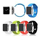 hesapli Saklama Kapları-Watch Band için Apple Watch Series 3 / 2 / 1 Apple Spor Bantları Silikon Bilek Askısı