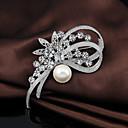 hesapli Boncuklar-Kadın's - Kristal, Kübik Zirconia İş, sevimli Stil Broş Beyaz Uyumluluk Düğün / Parti / Özel Anlar