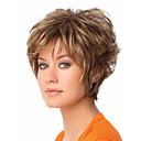 hesapli Makyaj ve Tırnak Bakımı-Sentetik Peruklar Kadın's Dalgalı Sarışın Pixie Cut / Bantlı Sentetik Saç Sarışın Peruk Şort Bonesiz Sarışın