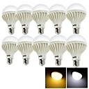 hesapli LED Küre Ampuller-YouOKLight 10pcs 12 W 1050 lm E26 / E27 LED Küre Ampuller 24 LED Boncuklar SMD 5630 Dekorotif Sıcak Beyaz / Serin Beyaz 220-240 V / 10 parça / RoHs