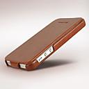 hesapli Makyaj ve Tırnak Bakımı-Pouzdro Uyumluluk iPhone 5 / Apple iPhone 5 Kılıf Flip Tam Kaplama Kılıf Solid Sert PU Deri için iPhone SE / 5s / iPhone 5