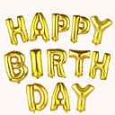 hesapli Balonlar-16inch renkli folyo mektup balonları 10pcs mektup şeklinde balonlar parti