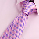 preiswerte Krawatten & Fliegen-Herrn Party / Büro / Grundlegend, Polyester Hals-Binder Solide / Rosa