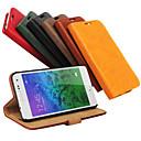 저렴한 갤럭시 J 시리즈 케이스 / 커버-케이스 제품 Samsung Galaxy 삼성 갤럭시 케이스 카드 홀더 지갑 스탠드 플립 전체 바디 케이스 한 색상 PU 가죽 용 Alpha