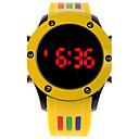 hesapli Erkek Saatleri-Erkek Bilek Saati Dijital Kauçuk Bant Dijital İhtişam Beyaz / Mavi / Kırmızı - Kırmzı Yeşil Pembe