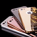 Недорогие Кейсы для iPhone-Кейс для Назначение Apple iPhone 6 Plus / iPhone 6 Покрытие / Зеркальная поверхность Кейс на заднюю панель Однотонный Твердый Металл для iPhone 6s Plus / iPhone 6s / iPhone 6 Plus