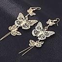 ieftine Cercei-Pentru femei Cercei Picătură femei cercei Bijuterii Auriu / Argintiu Pentru
