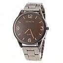 hesapli Erkek Saatleri-Erkek Quartz Bilek Saati Gündelik Saatler Paslanmaz Çelik Bant İhtişam Gümüş