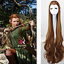 hesapli Makyaj ve Tırnak Bakımı-Sentetik Peruklar / Kostüm Perukları Dalgalı Sentetik Saç Kahverengi Peruk Kadın's Çok uzun Bonesiz Kahverengi