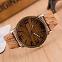 cheap Women's Watches-Men's Fashion Watch Wood Watch Japanese Quartz Brown / Grey 30 m Casual Watch Analog Charm - Medium Brown 5# 6# Two Years Battery Life