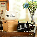"""preiswerte Tassen-300 ml schwarz und weiß niedlichen katze tier tasse kreative wasser mug (5,1 """"x 4,3"""" x 3,7 """")"""