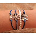 cheap Brooches-Chain Bracelet Wrap Bracelet - Leather Tree of Life, Animal, Infinity Personalized, Unique Design Bracelet Blue For Party Daily Casual