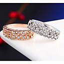 preiswerte Halsketten-Herrn Kristall Eheringe - Aleación Simple Style, Modisch 6 / 7 / 8 / 9 Silber / Golden Für Hochzeit Party Alltag / Normal / Krystall