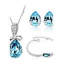preiswerte Ohrringe-Damen Schmuck-Set Armband / Ohrringe / Halsketten - Party / Büro / Freizeit Purpur / Grün / Blau Für