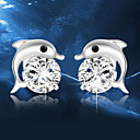 cheap Makeup & Nail Care-Crystal Stud Earrings - Sterling Silver, Crystal, Silver Dolphin, Animal Fashion Silver For Wedding Party Daily