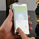 olcso Férfi órák-Case Kompatibilitás Samsung Galaxy Samsung Galaxy tok Tükör Flip Átlátszó Fekete tok Tömör szín PC mert A8 A7 A5