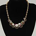 preiswerte Armbänder-Damen Perle Halsketten - Erklärung, Modisch Weiß, Schwarz, Regenbogen Modische Halsketten Schmuck Für Alltag