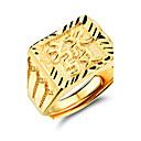 preiswerte Ringe-Herrn Bandring - vergoldet Modisch Verstellbar Gold Für Hochzeit Party Alltag